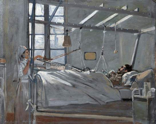Lobley, John Hodgson; Val de Grace Hospital, Paris: Interior of a Ward; IWM (Imperial War Museums); http://www.artuk.org/artworks/val-de-grace-hospital-paris-interior-of-a-ward-6713